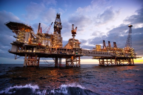 BPs Azerbaijan Gunashli Offshore Platform taken from Chris Dugglebys BIZCHANGERS site (photo courtesy of BP p.l.c.)