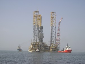 BPs Shah Deniz Alpha Platform During Construction (photo courtesy of BP p.l.c.)