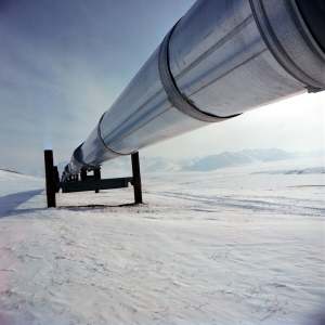 Trans Alaska Pipeline taken from Chris Dugglebys BIZCHANGERS site (photo courtesy of BP p.l.c.)